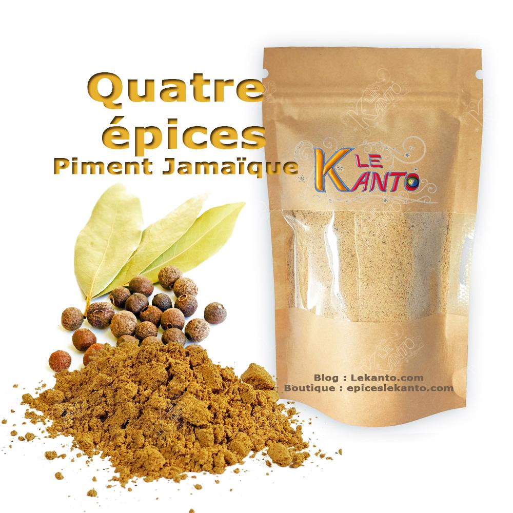 Le quatre épices piment de la jamaïque