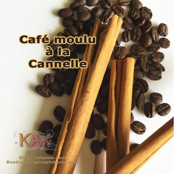 Café moulu à la cannelle