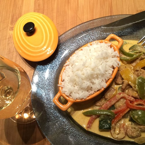 Recette de poulet au curry rouge Thaïlandais en poudre