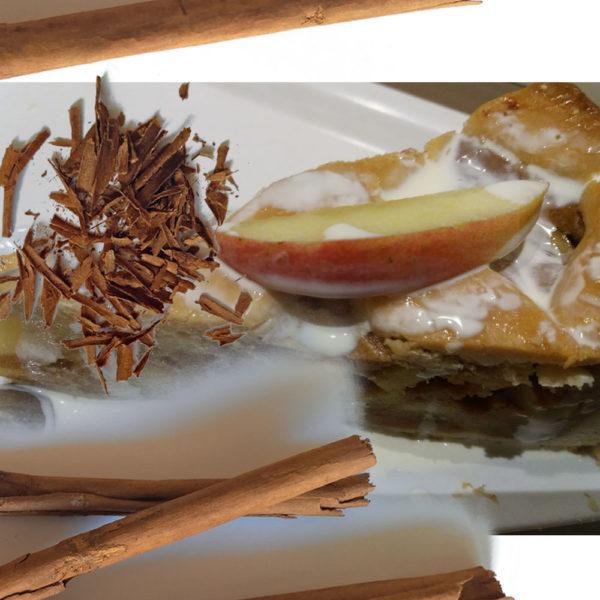 Tarte au pomme à la Cannelle