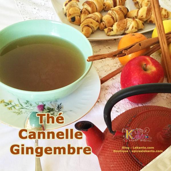 Thé à la cannelle et au gingembre