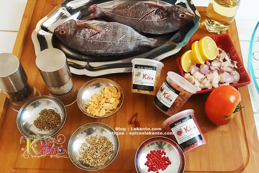Ensemble de 3 épices pour poisson