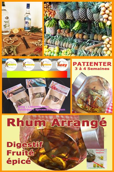 Etape de préparation du Rhum arrangé