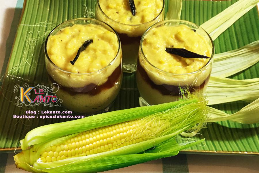Maïs frais au coco